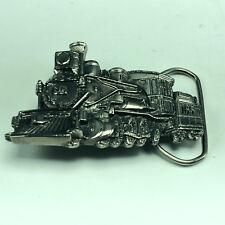 VINTAGE BELT BUCKLE unisex 1981 chicago train locomotive pewter great silverton