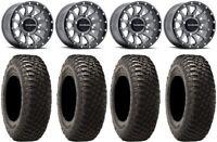 "Raceline Trophy 14"" Grey Wheels 30"" BFG KM3 Tires Polaris Ranger XP 9/1K"