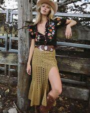 Chasing Unicorns Feels Like Love Crochet Skirt L NWT
