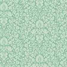 Tilda de Tela. primavera Lago. Addie en verde azulado. Floral Algodón. por la Fq