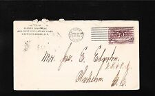 Clyde's Coastwise & West India Steam Lines Bowling Green NY 1894 Columbian z77