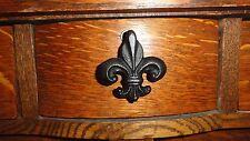 Drawer Knobs Drawer Pulls Cabinet Knob Fleur de Lis Cast Iron Cabinet Door.