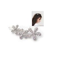 Strass Blume Blüten Haarspange Haarklammer Blumen Haarnadel Haarschmuck Silber