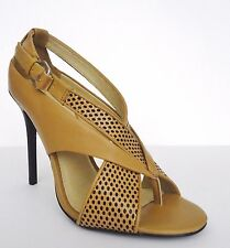 L.A.M.B. Beverlee Dress Pump Shoes High Heel Sandals Sz 10 M Camel Black $275