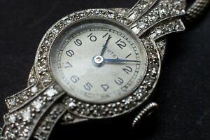 Vertex Ladies Platinum and Diamond Watch