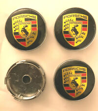 PO wheel centre 60mm Set Of 4 Hub Caps Logo Emblem Badge, 55 mm clips diameter