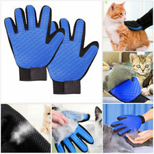 Dog Cat Pets Gentle Deshedding Hair Fur Removal Gloves For Easy Grooming Massage