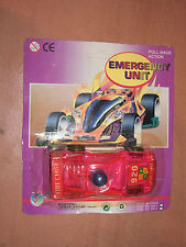 90'S Vintage Emergency Unit Fire Ferrari Diecast Toy Car Pull Back Action Moc