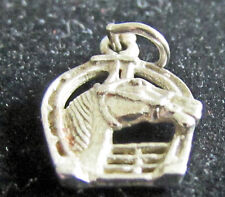 Vintage  Sterling Silver  Charm Horse Shoe Horse Head Good Luck AM 925