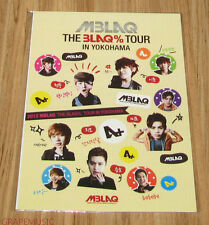 MBLAQ THE BLAQ% TOUR CONCERT OFFICIAL GOODS STICKER TYPE A NEW