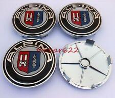 4PCS 68mm Car Wheel Center Hub Caps Clips Tires Parts Trim For Alpina ABS t6804