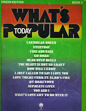 What's Popular Today Book 2 Organ Edition SC 1987