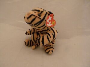 "June 11 1995 Ty Original Beanie Babies STRIPES The Tiger PE Pellets w/tags (10"")"