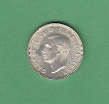 1945-S Great Britain One Shilling Silver Coin - Scottish Reverse - UNC