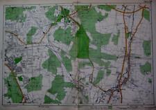 LONDON CHISLEHURST BROMLEY ORPINGTON LARGE SCALE MAP BACON  c1928