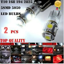 2PCS T10 Wedge 5-SMD W5W 2825 158 168 192 194 5050 LED Light bulbs License Plate