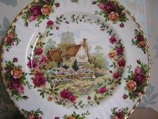 Royal Albert Old Country Roses Large Country Cottage Plate Collectors item Mint.