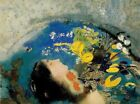 """Odilon Redon Ophelia Abstract Art CANVAS PRINT painting poster 24""""X18"""""""