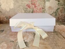 White Shimmering Box With Ribbon - Wedding, Shower Gift, Baby Shower, Gradua