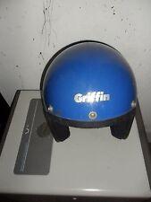 Vintage Griffin DOT Crash Helmet Blue .
