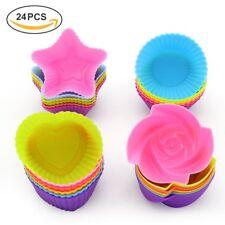 Juego De Moldes Reusables Para Reposteria Silicona Antiadherente Cupcakes Muffin