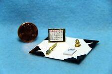 Dollhouse Miniature Desk Blotter Set with Accessories IM65755