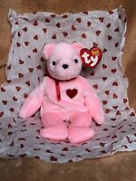 Ty Beanie Babie Smooch-e, The Pink Valentine's Day Bear (Ty Store Exclusive)