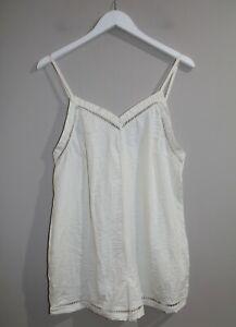 Cotton On Body Brand Texured Love Cream Jumpsuit Size M BNWT #SV59