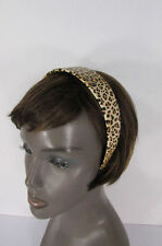 Fun Women Animal Print Leopard Head Band Trendy Fashion Jewelry Wide Beige Brown