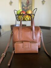 Fossil Sydney Satchel Crossbody Medium Brown Leather Handbag SHB1978210