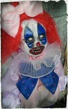 Boo the Clown by Slightly Wicked Dolls, OOAK Creepy Horror Halloween Dolls