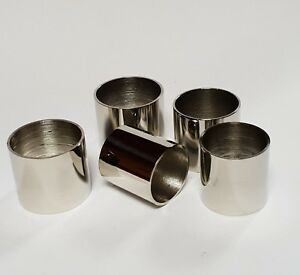 PLAIN NICKEL COLLARS Choice of 10 SIZES 19mm-30mm i/d. for Walking Stick Making
