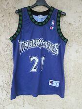 Maillot TIMBERWOLVES MINNESOTA Kevin GARNETT vintage shirt NBA Champion USA M