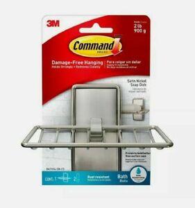 Command Soap Dish, Satin Nickel, BATH34-SN-ES