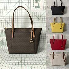 NWT Michael Kors Ciara Large Signature/ Leather PVC Shoulder Bag Top Zip Tote