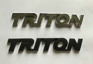 Mitsubishi TRITON rear / side panel badge (chrome or black)