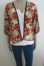 NWT RED FLORAL LIGHWEIGHT JACKET SIZE 10/14