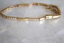 14k yellow gold 1.75 diamond fancy line link tennis bracelet