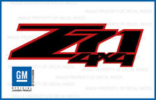 set of 2 2010 Z71 4x4 Decals stickers Chevy Silverado GMC Sierra Red Black FRBLK