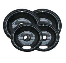 4 Porcelain Electric Stove Replacement Drip Pans Set Bowls A Series Top