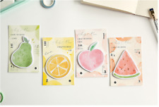 Set of 4 - 30pgs Cute Fruit Self Adhesive Paper Tape / Sticky Note / Memo