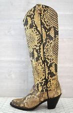 LARRY MAHAN Women's 5 Full Python Tall Western Cowboy Boots MINT