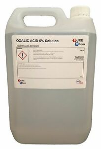 Oxalic Acid 5% Solution 5L Bleaching / Stain Removal / Rust Remover