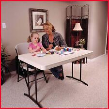 Lifetime 4' Commercial Grade Folding Table, Almond, 48