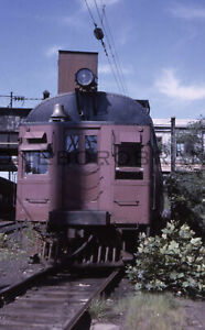 "Original slide- PRR Gas-Electric ""Doodlebug"" @ Trenton NJ; 6/1963"