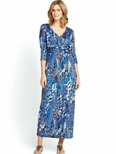 BNWT SAVOIR BLUE PRINTED  CROSSOVER  MAXI DRESS SIZE 14