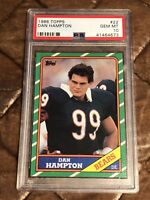 1986 Topps Football #22 Dan Hampton HOF PSA 10 Gem Mint