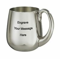 NEW Personalised 1 Pint Stout Polished Pewter Tankard Any Message Engraved