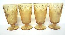 "Vintage (4) Amber Drinking Glasses 6"""