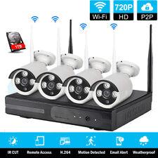 4Ch 1080P Hd Wireless Nvr P2P Wifi Ir-Cut Ip Network Camera Security System +1Tb